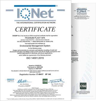 certificato picenum plast